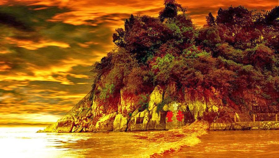 สถานที่ของยุทธนาวีผาแดง - Battle of Red Cliffs