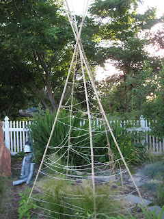 Structure resembling a tepee.