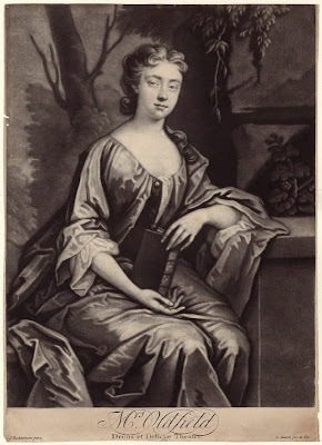 Anne Oldfield by Edward Fisher, after Jonathan Richardson mezzotint, circa 1760-1785