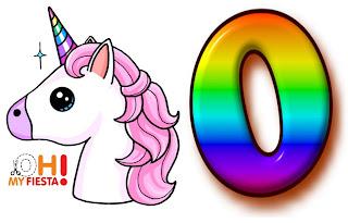 Alfabeto de Unicornio Arco Iris.