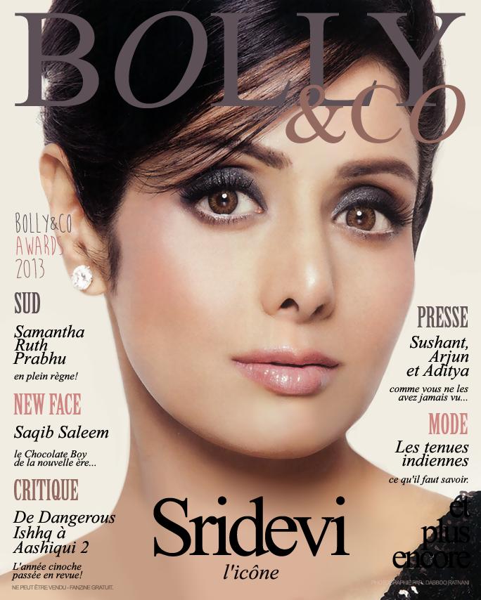 cover magazine français avec actrice Sridevi