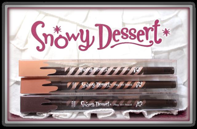 Etude House Snowy Dessert Play 101 Pencil #72, #73 #75 Haul Review beauty blogger cute christmas korean makeup eye 3