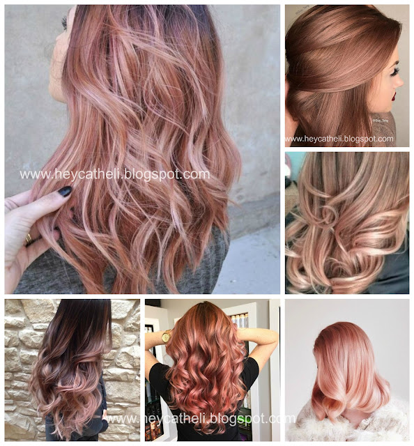 pink hair gold hair ombré hair
