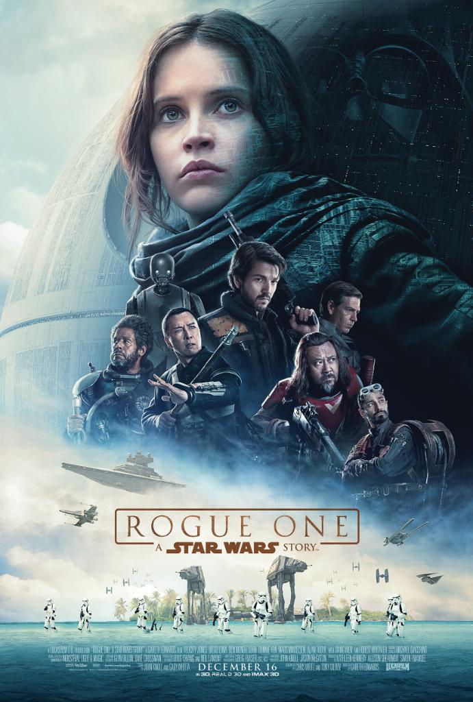 rogue one official movie poster in a far away galaxy
