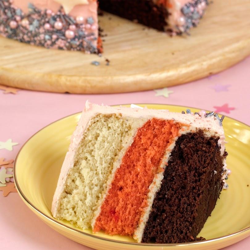festive hazelnut praline cake