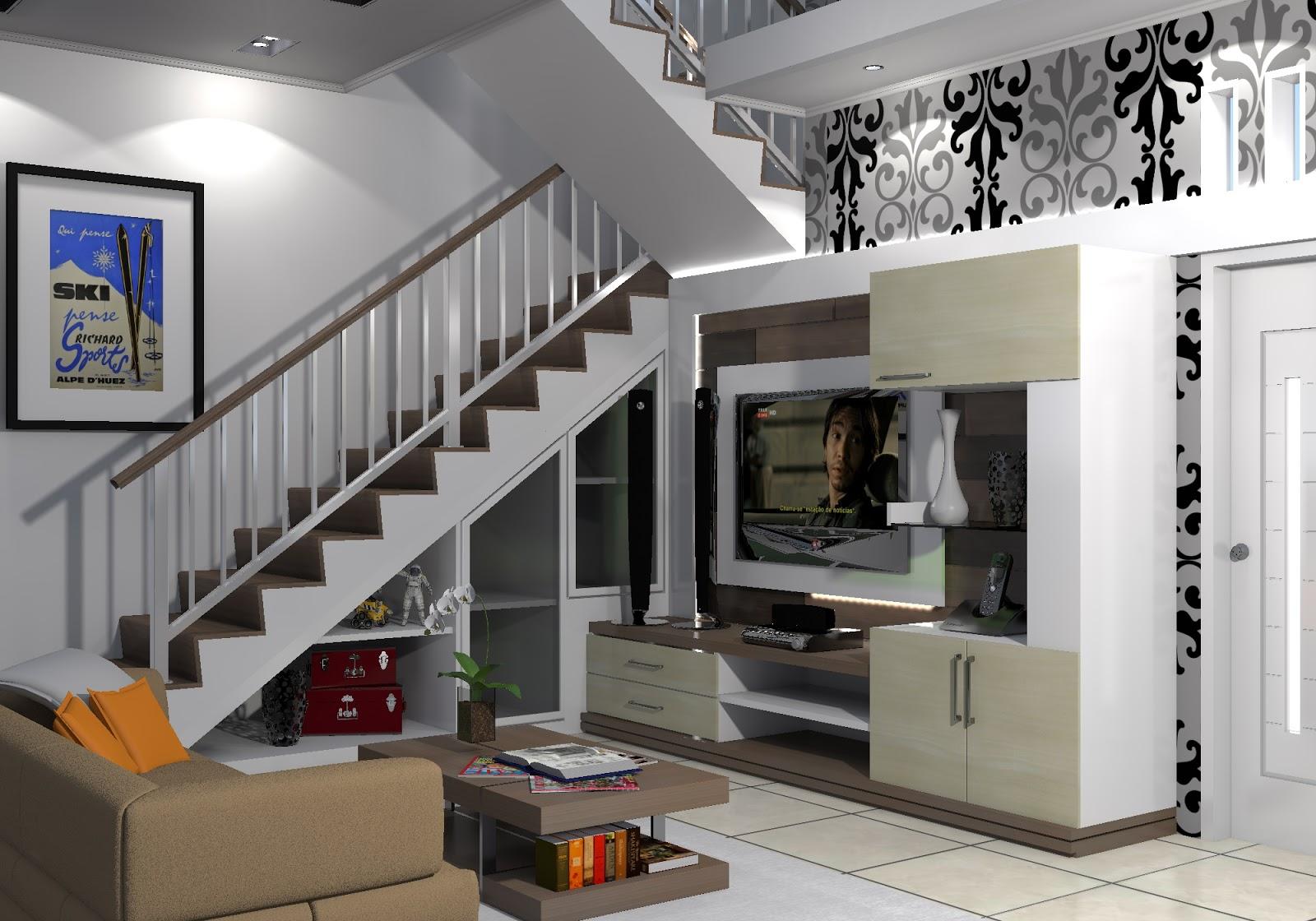 ruang keluarga lantai 2 di malang dan batu