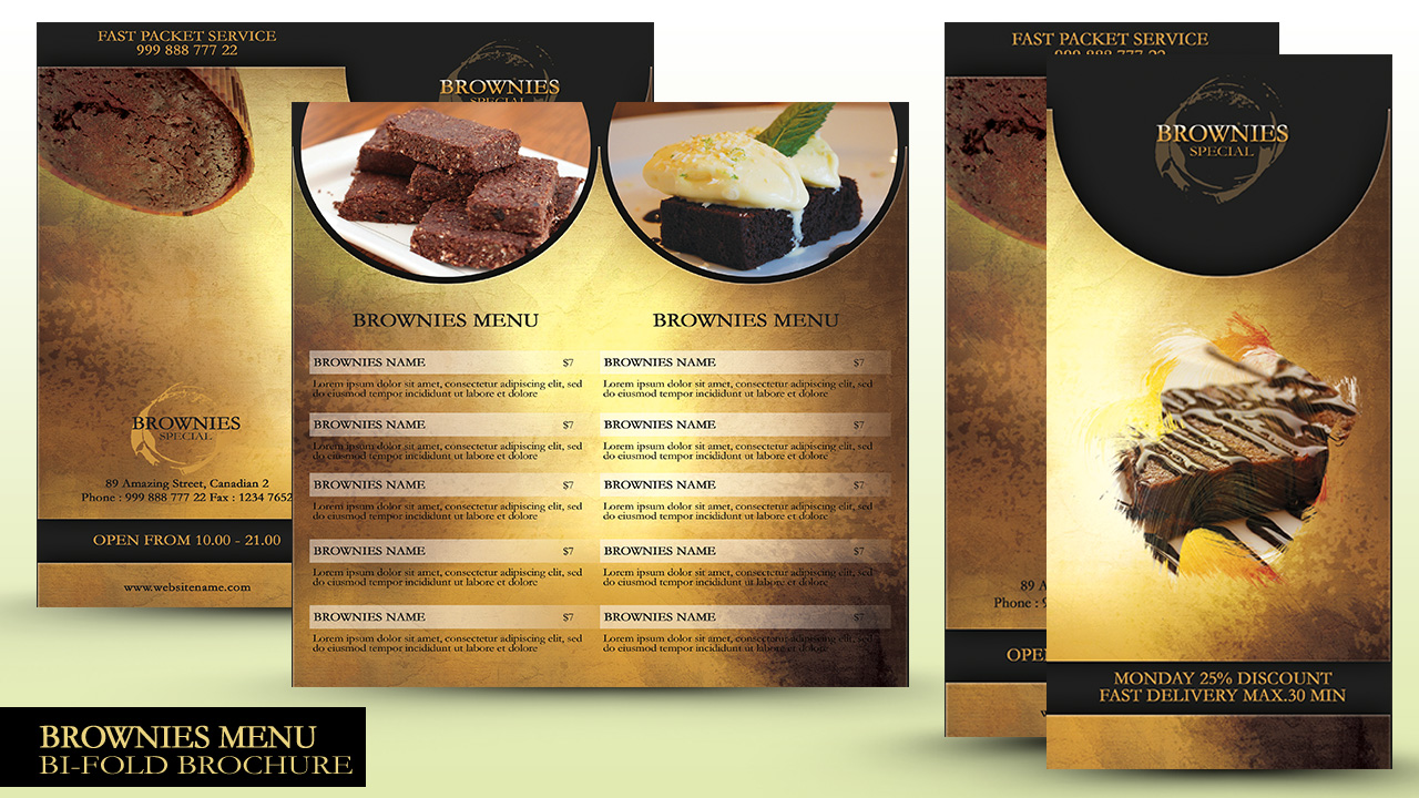 Make a Menu Bi Fold Brochure In Photoshop