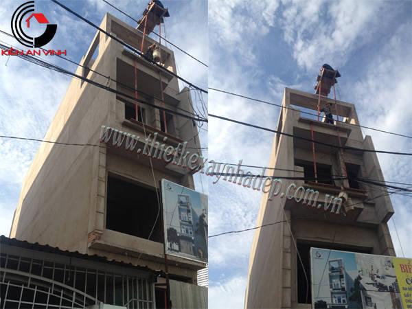 Thi công xây dựng nhà ống 2 tầng 5x15  chị Thủy ở Sóc Trăng Thi-cong-nha-pho-4