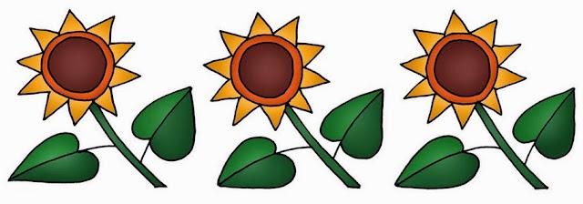 Sunflowers: Free Printable Borders and Corners.