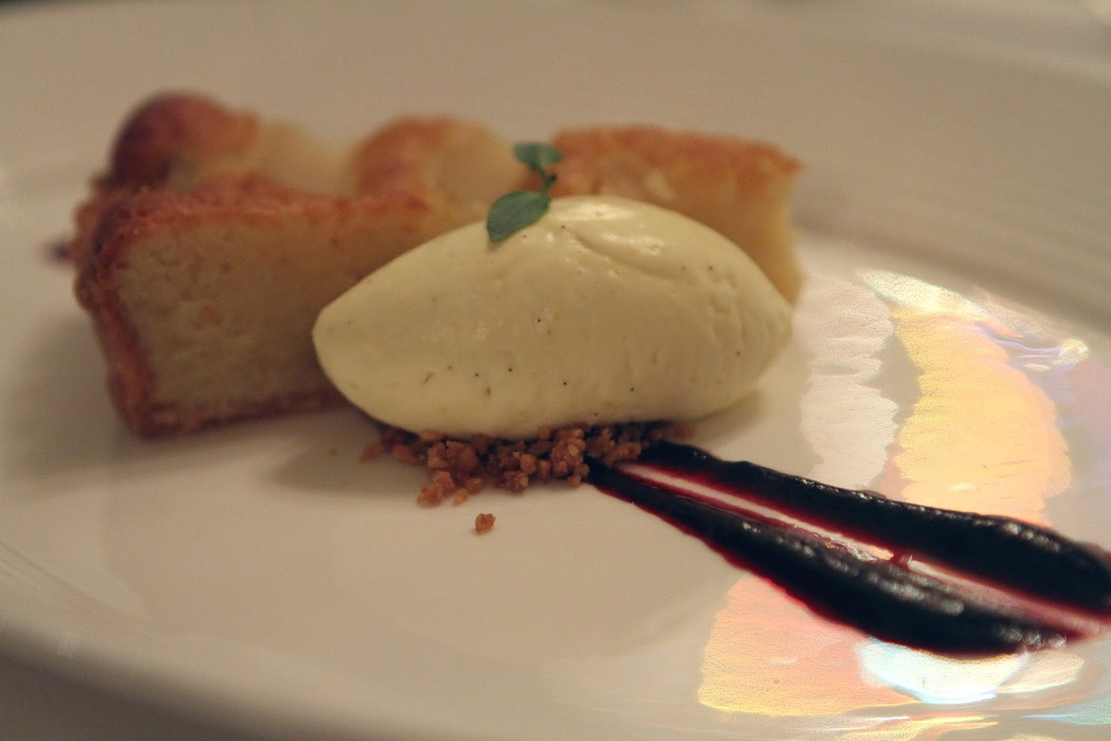 The Savoy grill Pear and frangipani tart