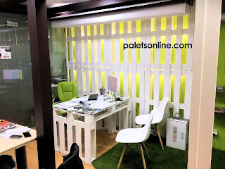 despacho con europalet color blanco Paletsonline.com