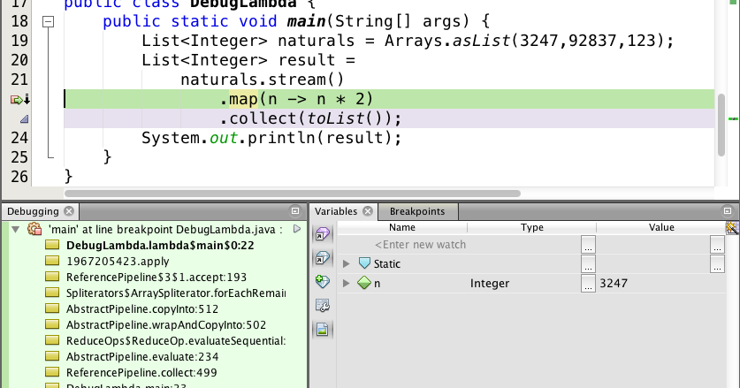 How to debug Java 8 Stream Pipeline - peek() method Example