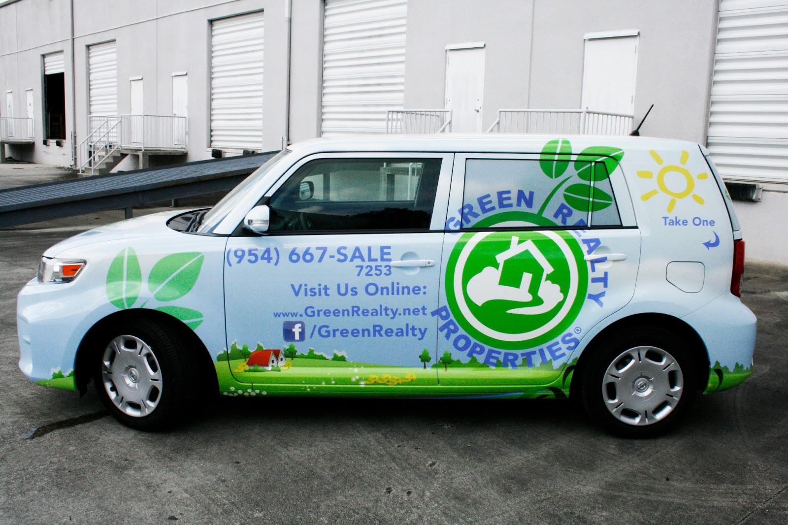 Car Real Estate: Car Wrap Davie Florida Real Estate Green Realty Properties