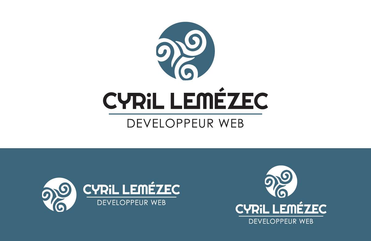 Création logo Cyril Lemézec, développeur web indépendant