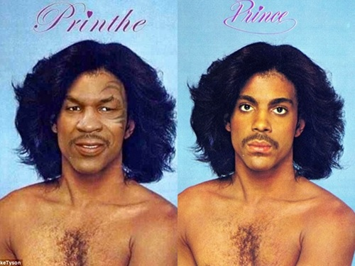 Boxing Legend, Mike Tyson's Controversial Photo Tribute to Late Singer, Prince, Goes Viral