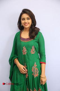Actress Sri Divya Pictures in Green Salwar Kameez at Rayudu Team Meet  0038.JPG