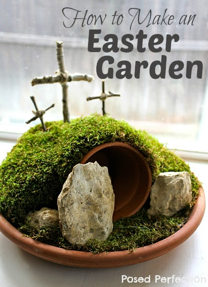 Posed Perfection How To Make An Easter Garden