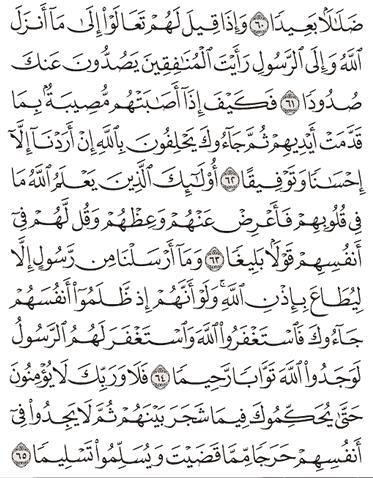 Tafsir Surat An-Nisa Ayat 61, 62, 63, 64, 65