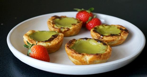 Matcha Portuguese Egg Tarts Recipe