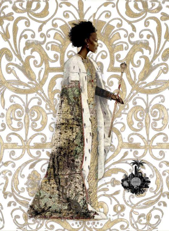 Art of the Day - Karen Clark www.toyastales.blogspot.com #KarenClark #African #BlackWoman #art