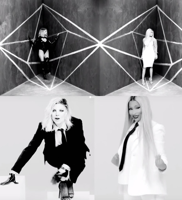 Still Image from Fergie's new released video of 'You Already Know' ft Nicki Minaj showing edgy style