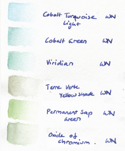 winsor newton aquarelle swatches watercolour
