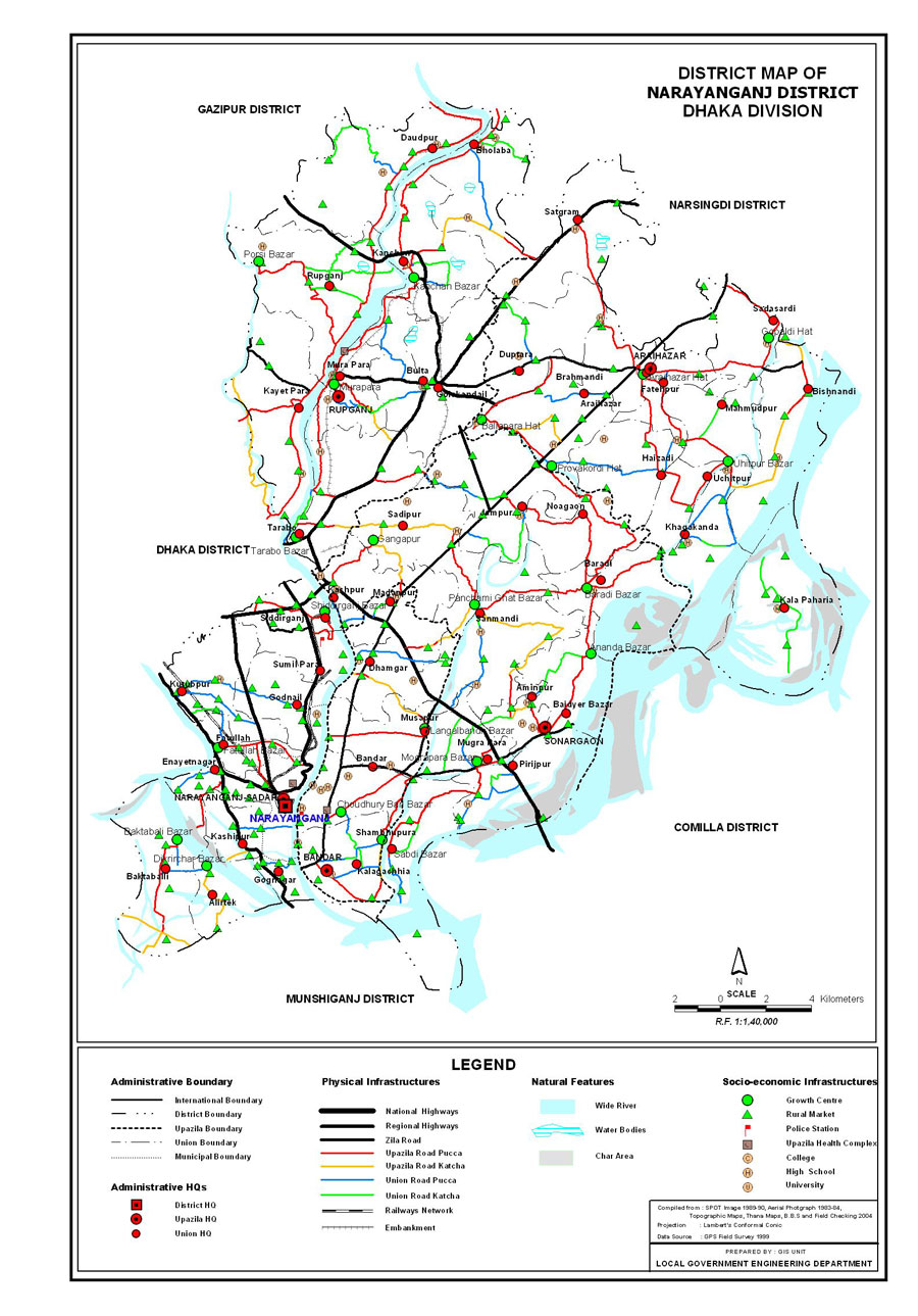 Narayanganj District Map Bangladesh