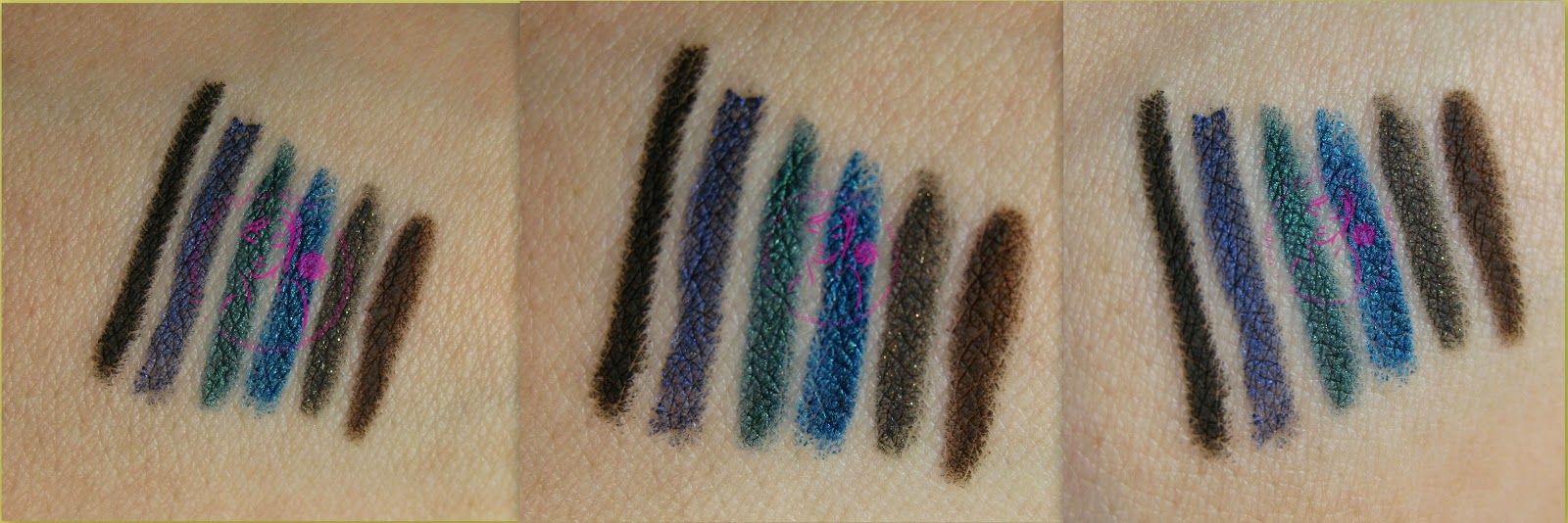 Essence - Gel Eye Pencil Waterproof - swatches