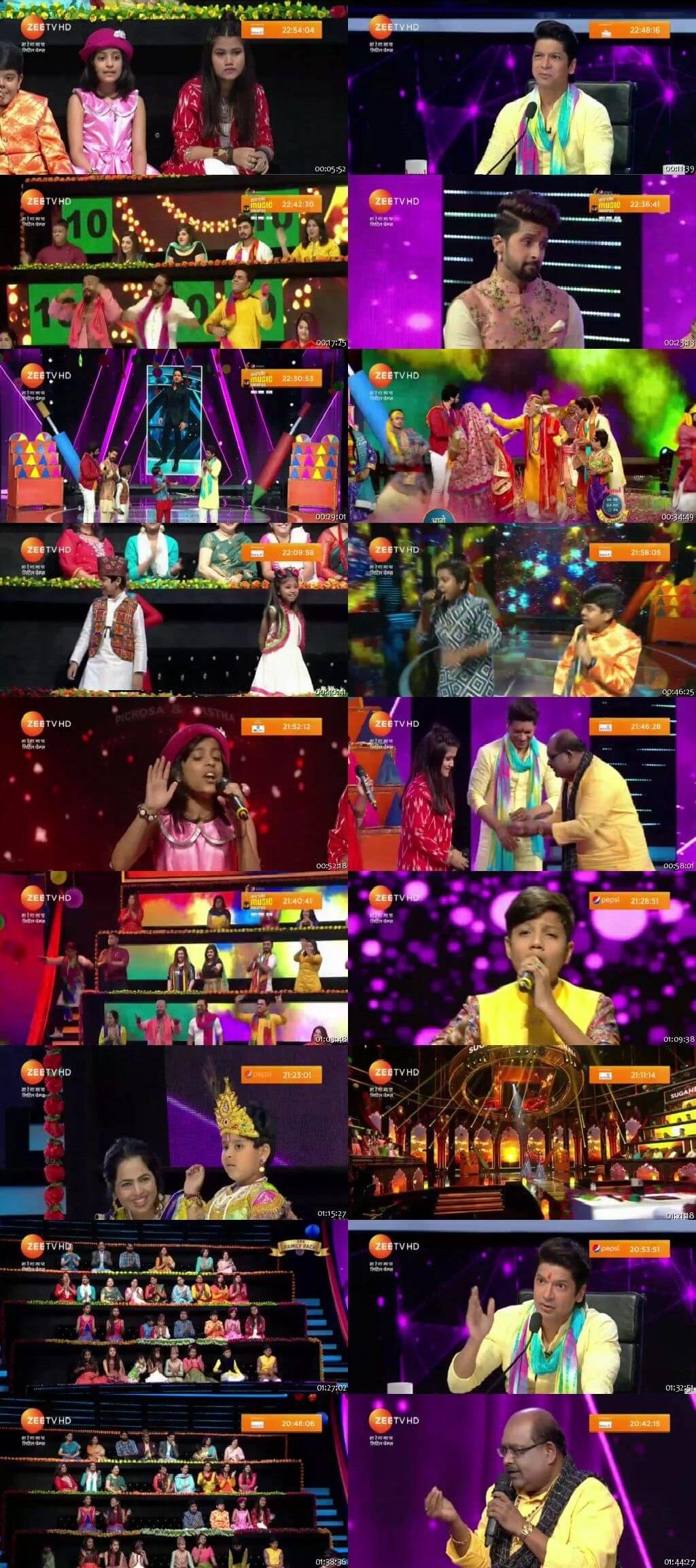 Screenshots Of Hindi Show Sa Re Ga Ma Pa 16th March 2019 Episode 11 300MB 480P HD