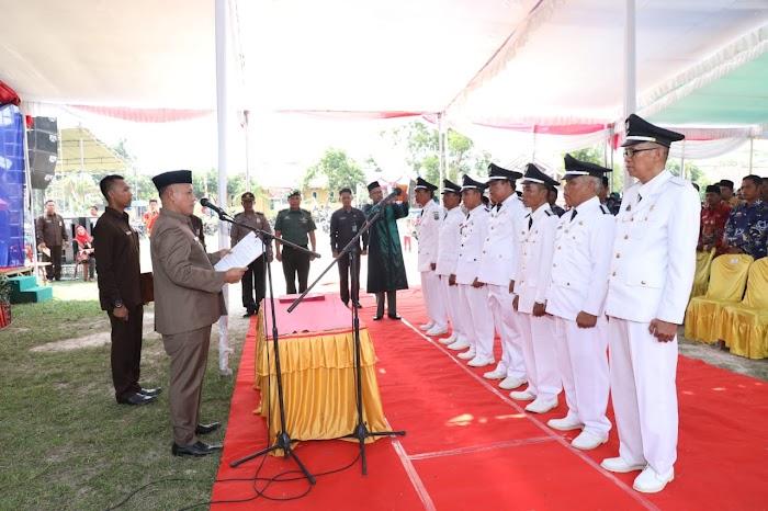 Plt Nanang Ermanto Lantik Tujuh Penjabat Kepala Desa di Kecamatan Palas Lamsel.