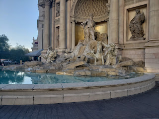Trevi Fountain replica outside the Forum Shops at Caesar's Palace in Las Vegas Nevada