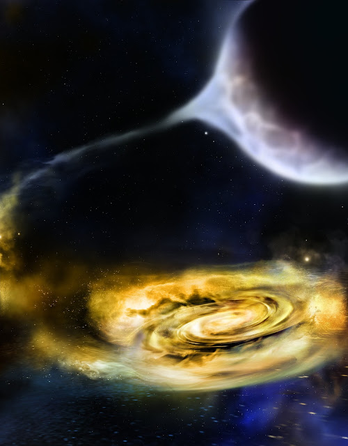 Study shows first evidence of winds outside black holes throughout their mealtimes