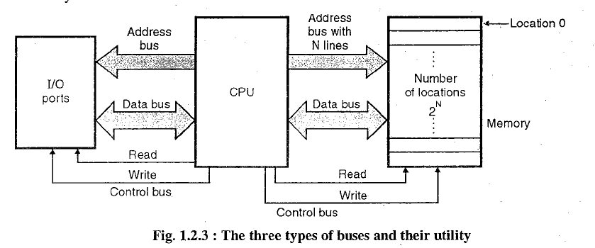 Difference between address and data bus