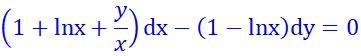http://www.mathuniver.com/2017/11/36exact-equation-1lnxyxdx-1-lnxdy0.html