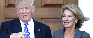 Donald Trump with pro-life activist Betsy DeVos