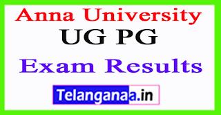 Anna University UG PG Exam Results 2017