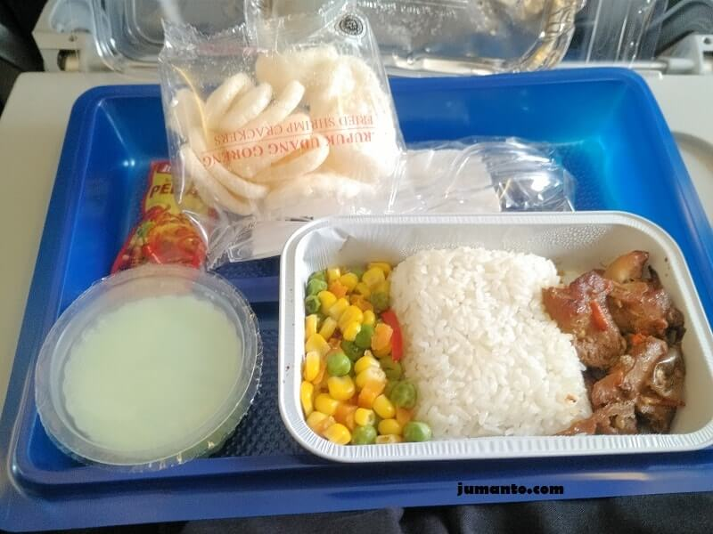 foto makanan di pesawat sriwijaya air