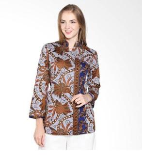 Model Baju Batik Kantor Wanita Modis