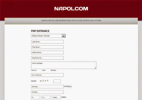 Napolcom 2015 Online Exam Application Scheduling System
