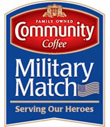 community coffee military match program logo
