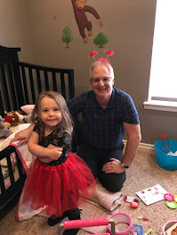 Sarah Piper and I playing in her bedroom during my Christmas visit in 2018!