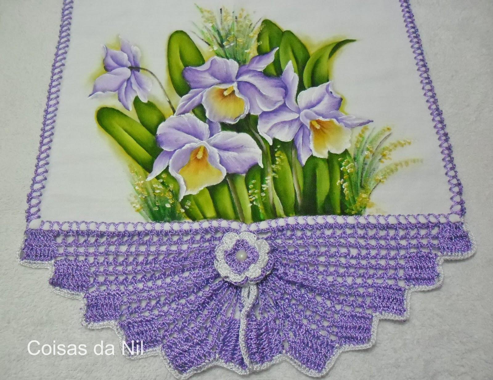 Coisas da nil pintura em tecido orquideas for Fotos pinterest