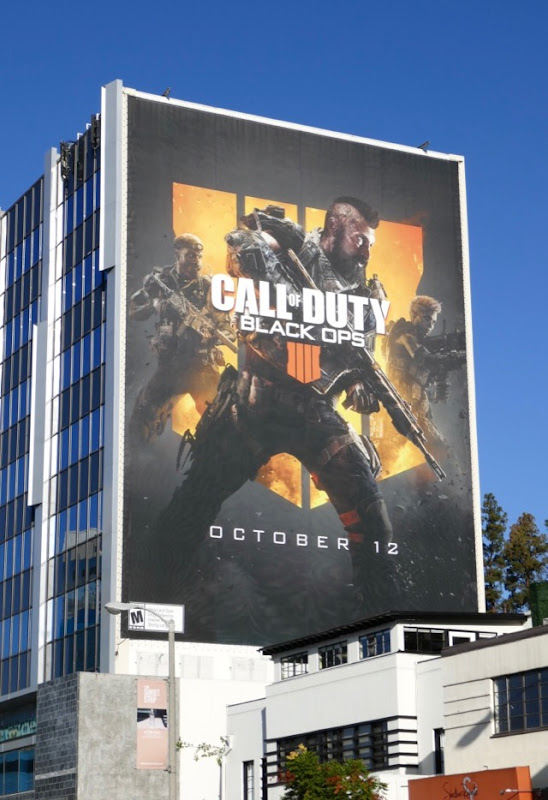 Giant Call of Duty Black Ops 4 video game billboard