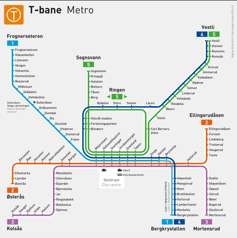t bane oslo linje kart Ser du hva som er nytt på dette T banekartet? t bane oslo linje kart