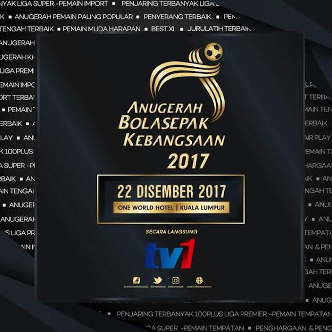 SENARAI PEMENANG ANUGERAH BOLA SEPAK KEBANGSAAN 2017