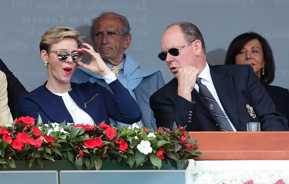 Prince Albert II of Monaco and Princess Charlene of Monaco attended the awards ceremony of the Monte Carlo Rolex Masters