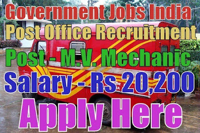 Post Office Recruitment 2017 Department of Posts