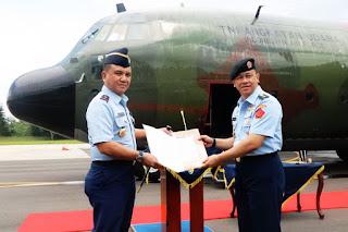 C-130H Hercules A-1338 Tiba di Malang