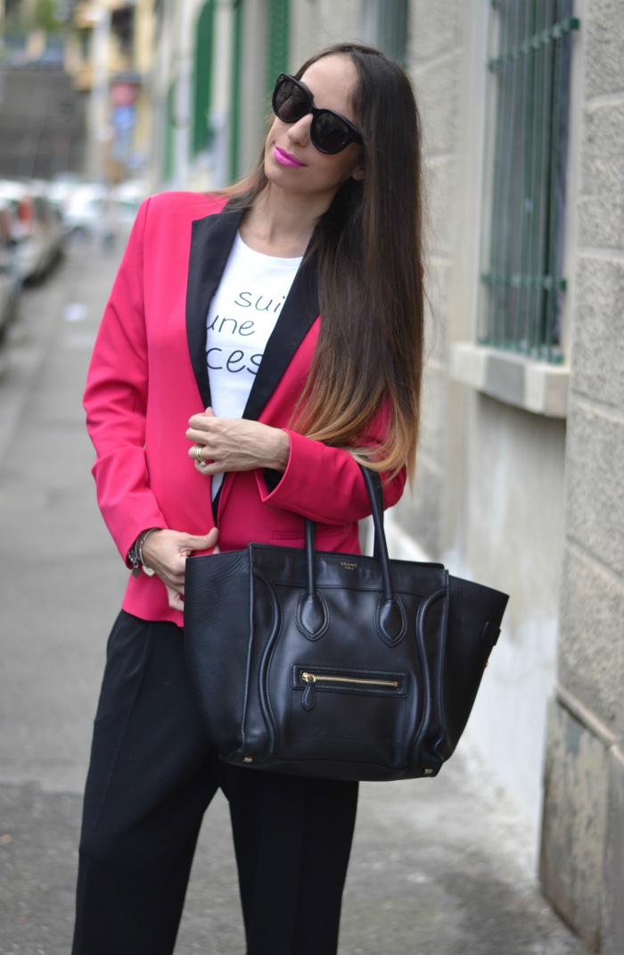 blazer rosa fuxia