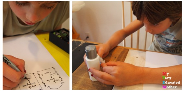 Father's Day Gift Idea: DIY Beard Oil and the kids are making the labels.